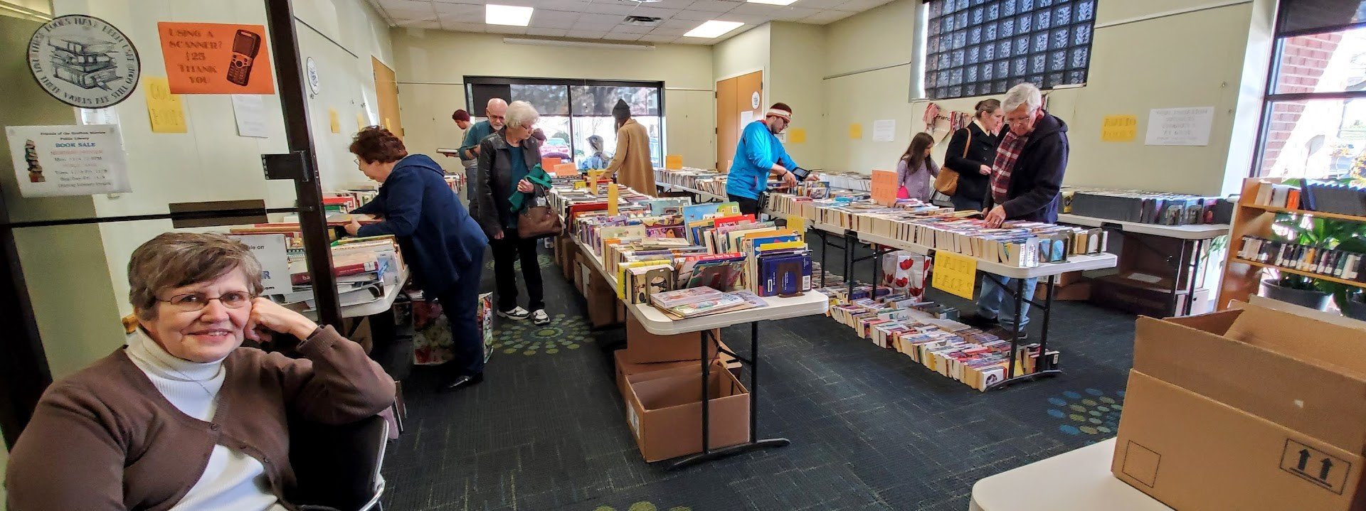 Book Sale in Library